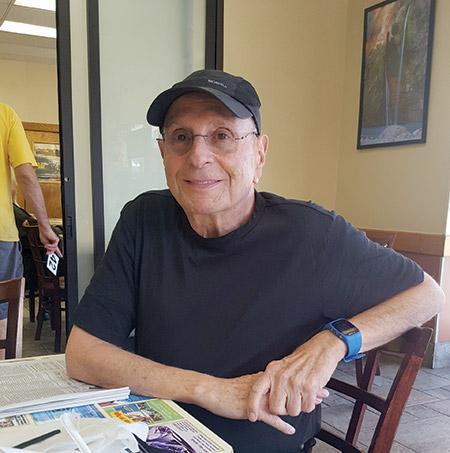 Pikesville resident Ed Kafes at Goldberg's New York Bagels (Photo by Mathew Klickstein)