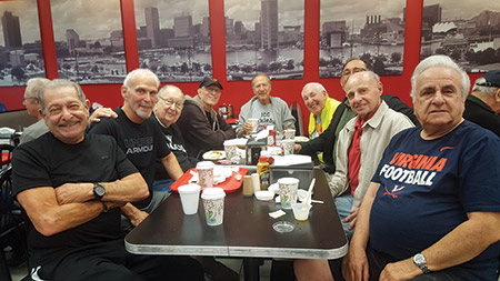 "Owings Mills' own ""Rat Pack"" at Steve's Deli (Photo by Mathew Klickstein)"