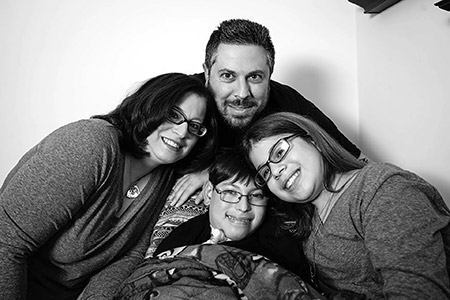 Ian Alexander Scher, with his loving parents, Marci and Brian, and twin sister Becca. (Provided photo)