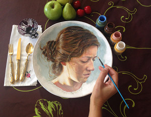 Siegel specializes in painting portraits on rocks. (Courtesy of Shirley Siegel)