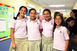 Middle school students at Beth Tfiloh Dahan  Community School were all smiles as the school year began last week. The school held orientations for its different divisions, as well as a dessert reception for parents of the 145 new BT students that featured a presentation from each division's principal. (Provided)