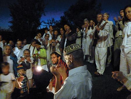 The East Bank Havurah's Havdalah service celebrates the end of Yom Kippur in 2013. (provided)