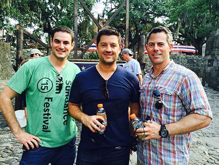 Jason Michael Berman, producer Benjamin Renzo, co-producer Ryan Ahrens, executive producer On set in Savannah, GA.