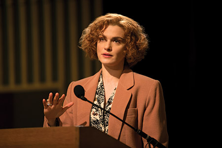 "Rachel Weisz as writer and historian Deborah Lipstadt in ""Denial."" (Laurie Sparham/Bleecker Street)"