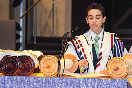 A big part of b'nai mitzvah preparation is learning a Torah portion.