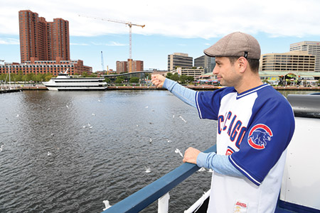 Beth Am Synagogue held a harbor cruise Tashlich service on Sunday, Oct. 9, in which more than 200  participants, including Rabbi Daniel Cotzin Burg (pictured), cast their sins into the water from the decks of the Spirit of Baltimore. (Provided)