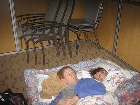 Caleb Gitlitz and his grandmother, Linda Howard, have spent at least one night sleeping in the family sukkah for years. (Photo provided)