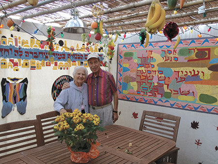 Ruth and Sy Hefter's sukkah is inspired by Israeli artists' designs. (File  photo)