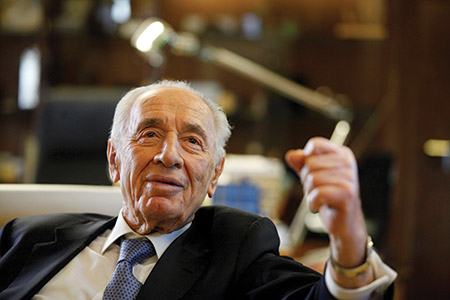 Shimon Peres, pictured at the president's residence in Jerusalem in 2013. (Lior Mizrahi/Getty Images)