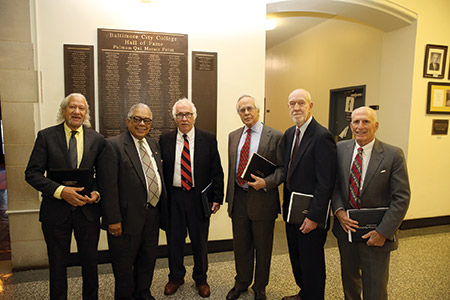 From left: Gary Bartz, William Brown, Dr. Sidney Krome, Dr. Robert Myerburg, Dr. Lloyd Musselman and John Heyn (Photo provided)