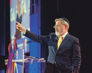 """The world has gone mad,"" Lord Rabbi Jonathan Sacks, former chief rabbi of the United Kingdom, told G.A. participants."