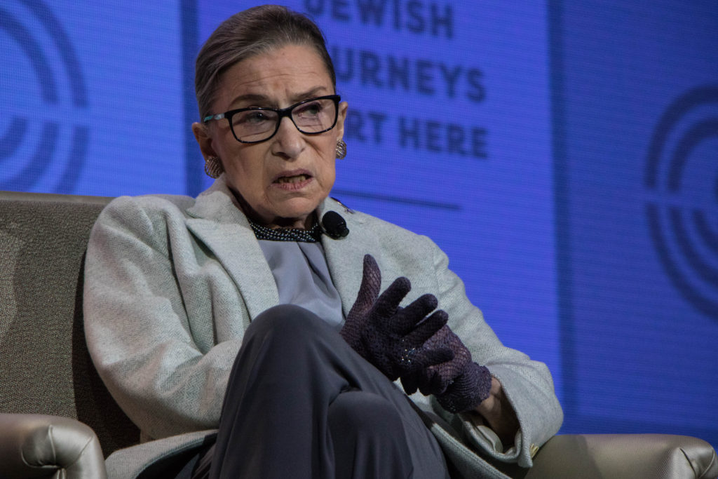 Supreme Court Justice Ruth Bader Ginsburg said she looks forward to Donald Trump filling the court's vacant seat. (Photo by Justin Katz