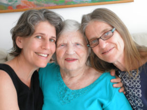 From left: Laurie Weisman, Anna Jacobs and Roz Jacobs.