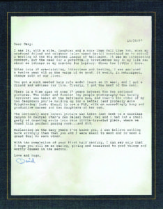 A letter to Gary Katz on his 50th birthday from his once Big Brother David Cooper.