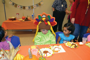 """Beth Israel Congregation's preschool held its  annual """"Friendsgiving"""" celebration on Nov. 23. Students sang festive songs and created a Thanksgiving museum that showcased their  experiences of food, friendship and discovery."""
