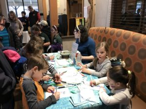The JCC of Greater Baltimore hosted Chanukah at Foundry Row, which included Chanukah songs from Krieger Schechter Day School students, activities with PJ Library, face painting, balloon art, music and other holiday activities. (Provided)