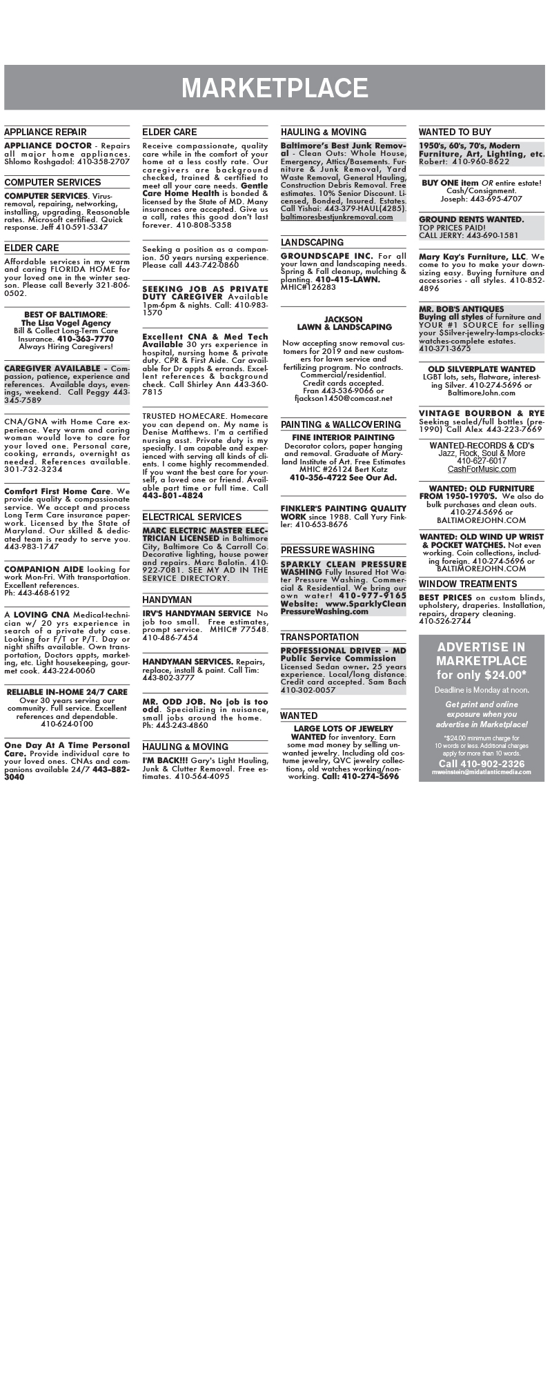 Classifieds (11-09) Wordpress - Baltimore Jewish Times
