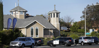The April 2019 shooting at the Chabad of Poway synagogue was one factor that led to a new report by the Jewish community's umbrella security agency. (Xinhua/Li Ying via Getty Images)