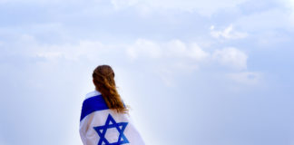 girl wearing an israeli flag