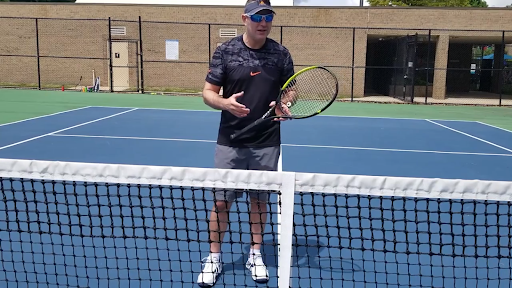 Adam Stein, tennis camp director of JCC of Greater Baltimore, gave an online lesson on how to improve one's speed and agility, June 8.