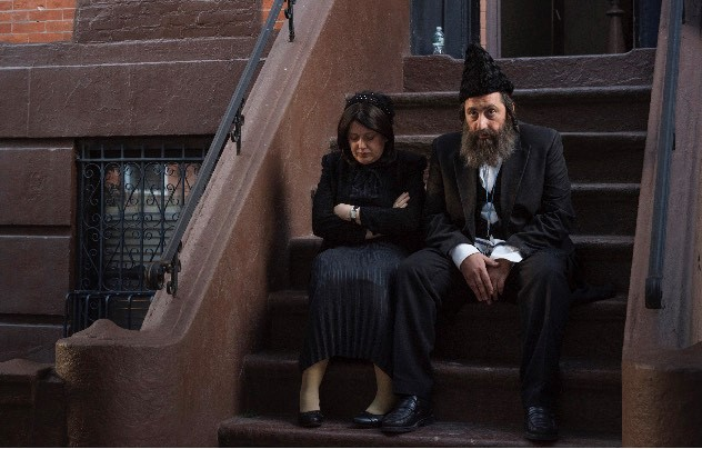 "Still of the characters Mordechai and Malka in""Shtisel,"" available on Netflix. (Courtesy of Caren Leven)"