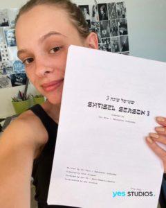shira haas with shtisel season 3 script