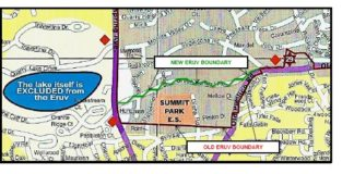 Eruv extension map of Greenspring (courtesy of Cohen)