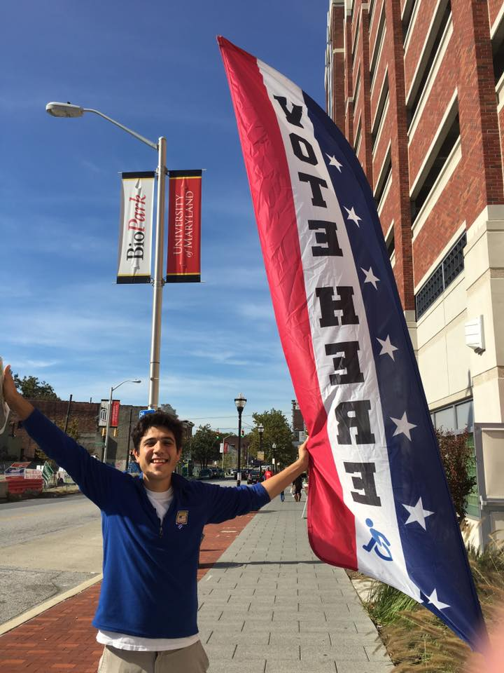 Sam Novey encourages Baltimore Voting (courtesy photo)