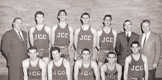 To celebrate the Associated's Centennial year, we're featuring photos from the history of the Associated and its agencies! The JCC basketball team for the 1955-56 season; photo by Nat Lipsitz. Can you identify anyone in this photo? Contact Joanna Church, 443-873-5176 or jchurch@jewishmuseummd.org. To see more of the Jewish Museum's extensive collection and find out who has been identified in past photos, visit jewishmuseummd.org/tag/once-upon-a-time-2/.