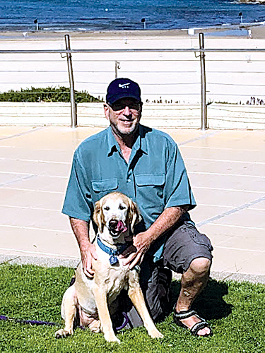Howard Michaelson and his dog, Sunny