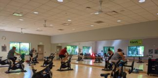 JCC cycling class by Amy Schwartz