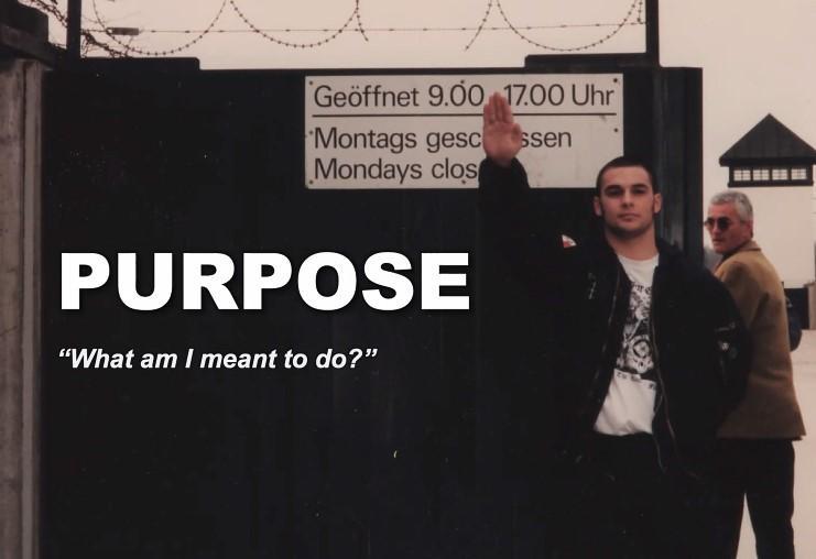 Screenshot of presentation by Christian Picciolini (by conte)