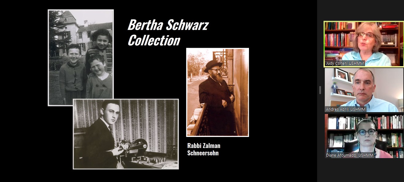 USHMM artifact presentation with BJC (screenshots by Carolyn Conte)