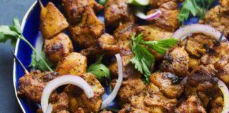 Shwarma chicken kebab