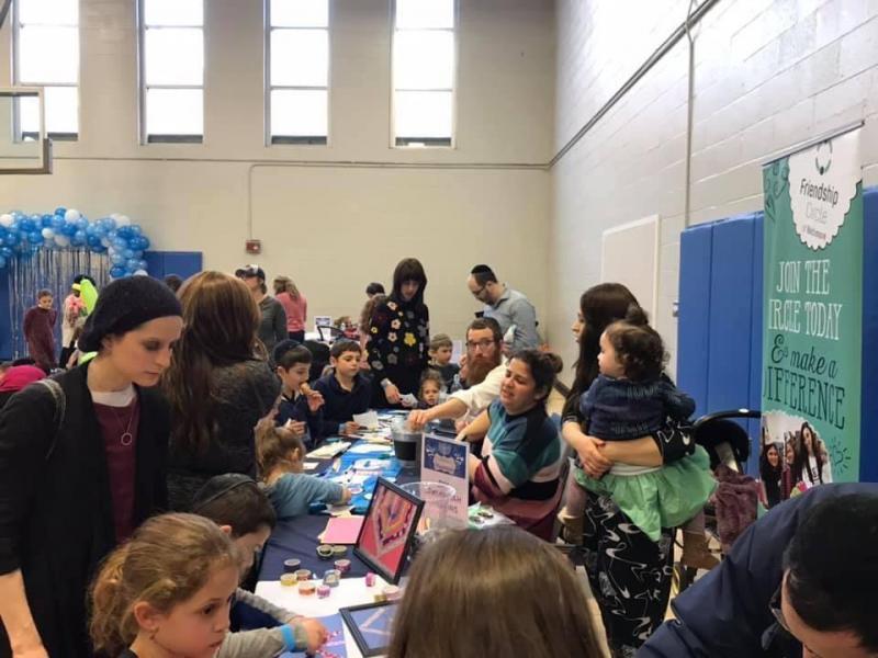 Jewish Women's Circle organizes Chanukah Wonderland at the Park Heights JCC, December 29, 2019.