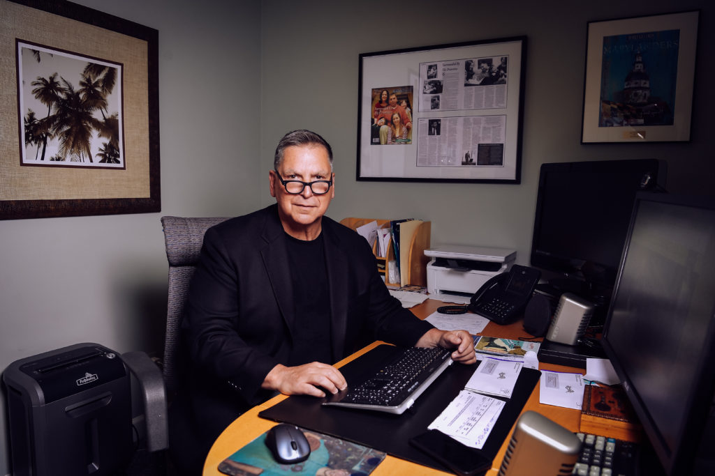 Marc Terrill in his home office