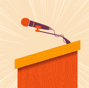 bima with microphone