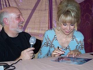 "Mark Gross interview Barbara Eden from ""I Dream of Jeannie."" Courtesy of Gross"