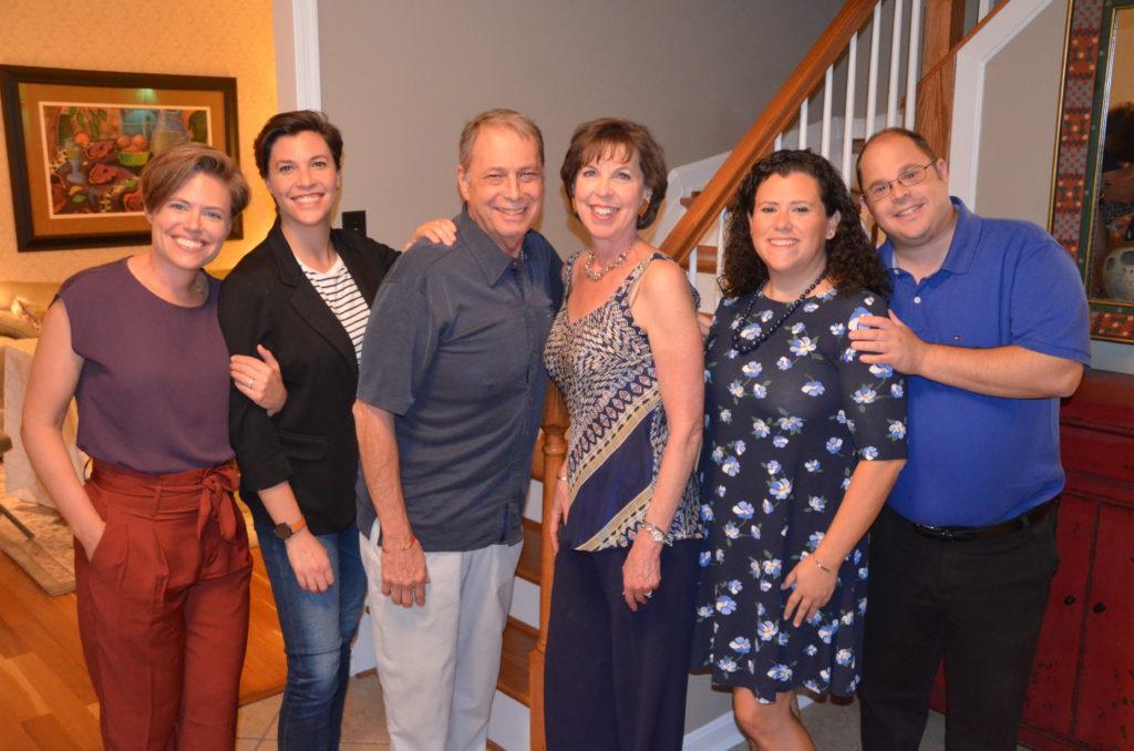 From left: Eve Finstein, Melissa Schreibstein, Richard Schreibstein, Janet Schreibstein, Sara Rubinstein and Michael Schreibstein