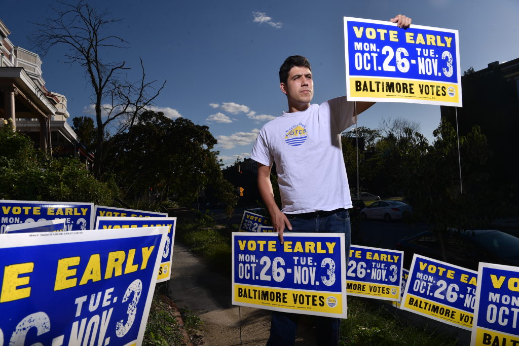 Sam Novey, co-founder of Baltimore Votes, encourages everyone to vote early and safely