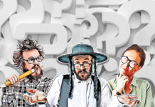 different rabbis surrounded by question marks