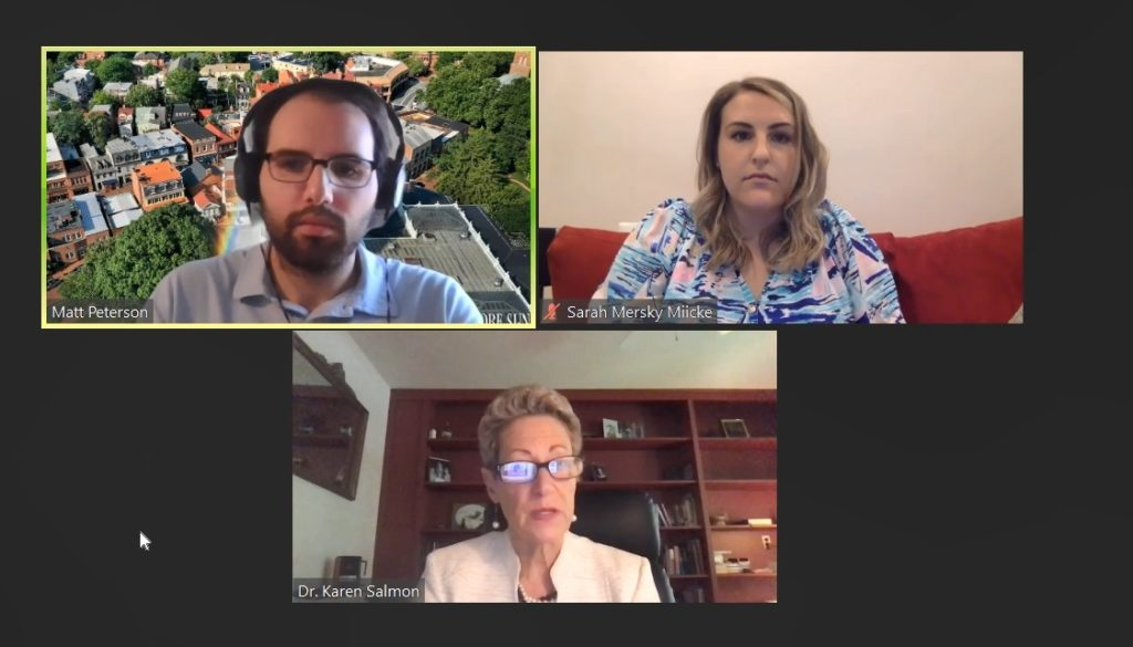 Dr. Karen Salmon, Sarah Mersky-Miicke, and Matt Peterson discuss the state of education in Maryland .