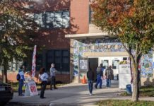 Barclay Elementary School polling place