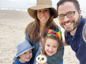 Jessica Fink with her family