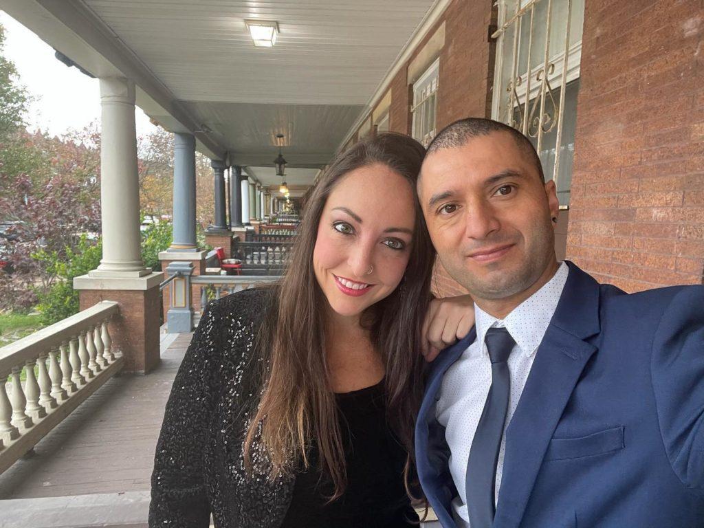 Gabrielle Elkaim with her partner, Pablo Castillo