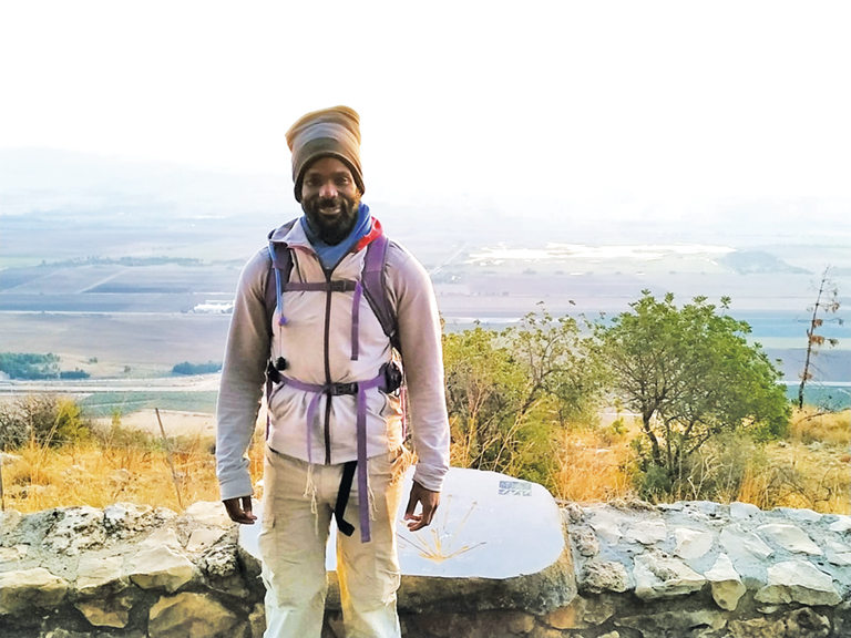 David Ben Moshe, seen here on the Israel National Trail, has been trying to get Israeli citizenship for years.