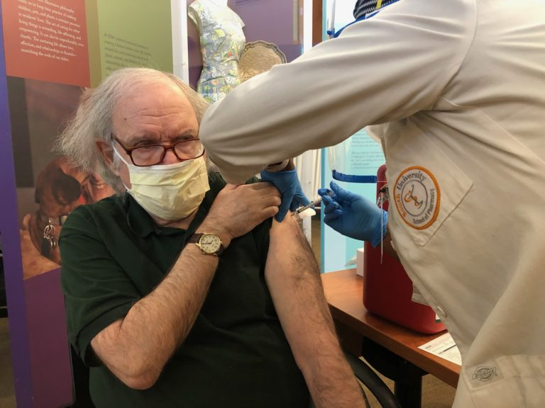 Abe Berg receives COVID-19 vaccine
