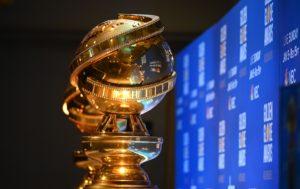 A Golden Globe trophy