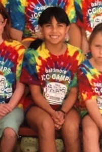 Ally Feldman as a child at camp