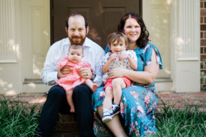 Liz Ressler with her family